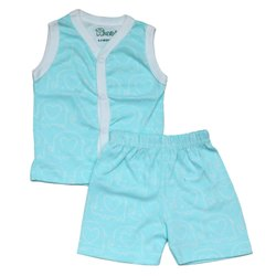 Aithiha Cotton Baby Sleeveless Top with Shorts, Size: 0-1