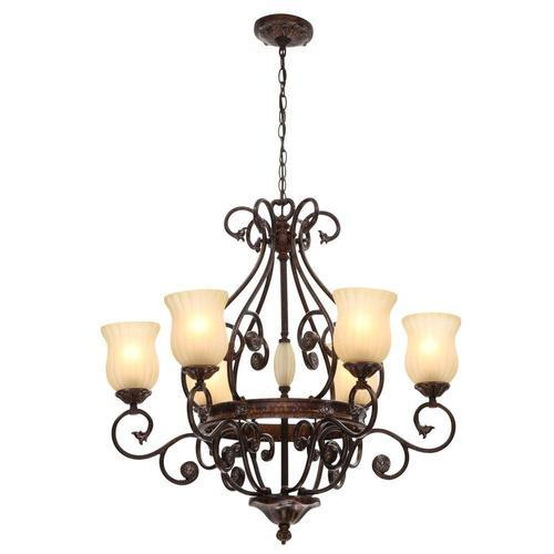 Glass Hanging Chandelier Light