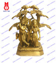 Lord Radha Krishna Standing Under Tree Statues
