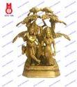Lord Radha Krishna Standing Under Tree Statues
