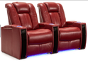 Recliner LED Glass Holder Chairs