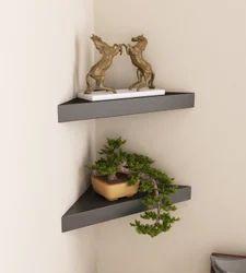 MyWoodKart 16 X 11 X 2 Inch Corner Wall Shelf