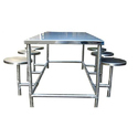 Polished Stainless Steel Dining Table, For Industry