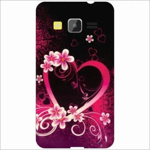 Plastic Black,Pink 3D Printed Mobile Back Cover, Size: 5.5 Inch