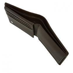 Custom Brand Male Bifold Leather Wallet