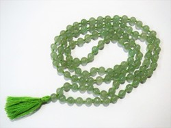 Green Jade 108-beads Jap Mala Prayer Meditation Stone beads Necklace