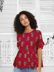 Vincy Fashion Printed Designer Top, Age Group: More Then 12 Year