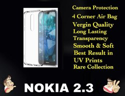 Silicon Nokia 2.3 Transparent Mobile Back Cover