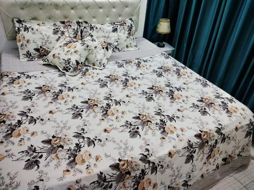 a69fc36694 100% Cotton Vijay Mill Bombay Dyeing King Size Double Bed Sheet Cushion Set