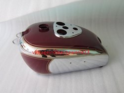 New Bsa M2021 Dlx M22 M2324 Chrome And Maroon Petrol Tank 1938-40