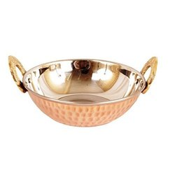Hammered Copper SS Kadai, Size: Dia 5.5 Inches - 8 Inches, Capacity: 200 Ml - 700 Ml