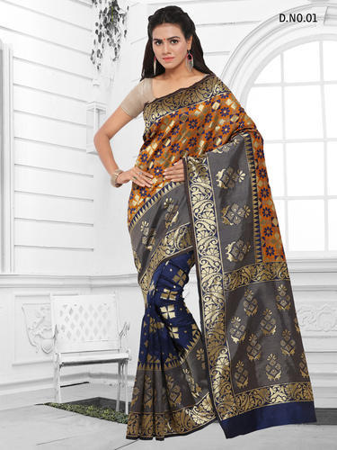 Silk Designer Sarees with Blouse Piece