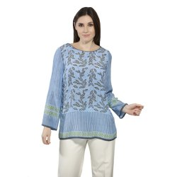 Chiffon Casual Printed Silk Tunic