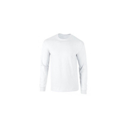 White Causal Full Sleeve T-shirt