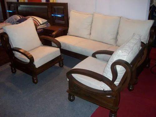 Brown Wooden Sofa Set