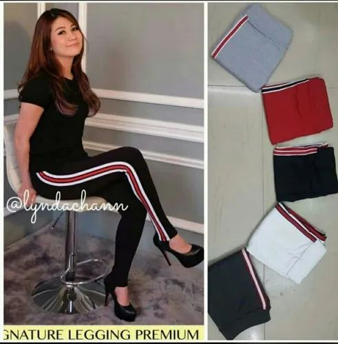 9af342e68486a Lycra Cotton Side Stripped Leggings, Size: Free, Rs 199 /piece | ID ...