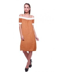 Rayon Plain Ladies Lace Dress