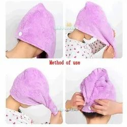 Microfibre Turban shower caps, For Drying Wet Hairs