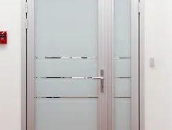 Off White Glass Aluminum Doors