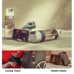 H2GO - Bottle with Cooling Towel & Mobile Stand