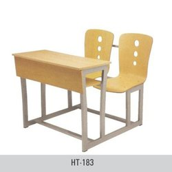 Wooden Student Desk Chair Set