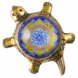 Eshoppee Shri Yantra On Metal Tortoise