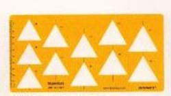 Drawing Template 1809 Triangle