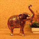 Metal Golden Elephant For Home Decor