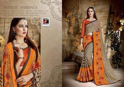Pikaso Saptrangi Series 53001-53016 Stylish Party Wear Georgette Saree