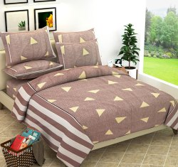 Elegant Designer Cotton Double Bedsheet