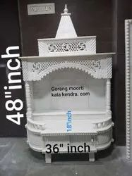 White Marble Hand Carved Indoor Jali Temple, For Home