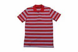 Plain Cotton Stripes Collar t Shirt, Size: S TO 2XL, Age Group: Men