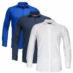 Own Collar Neck Mens Cotton Shirts, Machine Wash