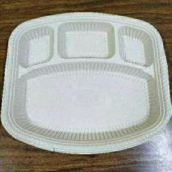 Cornstarch Plain Biodegradable Rectangular Plates, For Party Supplies