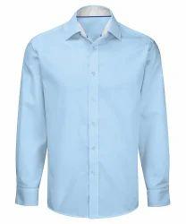 Plain Full Men Cotton Shirts, Machine wash