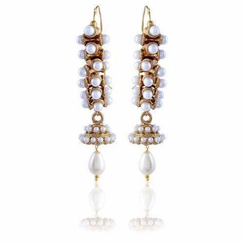 bd60b1cf9 Sinjara Gold Plated Dangle Drop Earrings