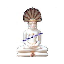 Marble Jain Mahaveer Statue