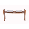 Two Seat Pine Bench