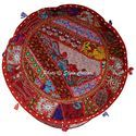 Beautiful Cotton Ottoman Pouf Cover Patchwork Ottoman Covers