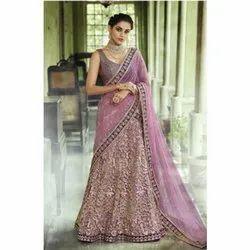 Charvi Creation Ladies Bridal Lehenga Sarees, Handwash, Saree Length: 5.5 m (separate blouse piece)