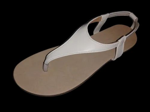 white casual sandals