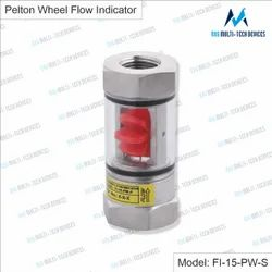 1/2 inch Pelton Wheel Flow Indicator