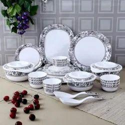 Utensza 40 Pcs Melamine Round Dinner Set (Royal Paisley)