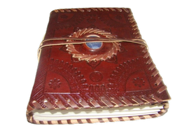 Embossed Designer Stone Leather Journal
