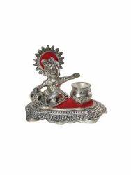 White Metal Bal Krishna Matki