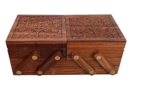 Hamee Handmade Wooden Sliding Jewelry Box