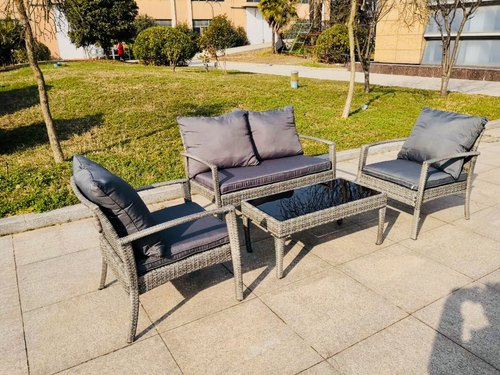 Rattan 4 Seater Comfortable Sofa for Outdoor