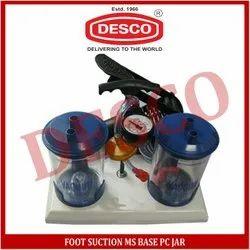 Foot Suction MS Base PC Jar, Capacity: 600mm