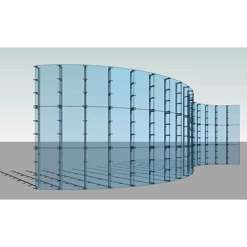 Glass Curtain Wall, For Office, Team Work Glass Solutions