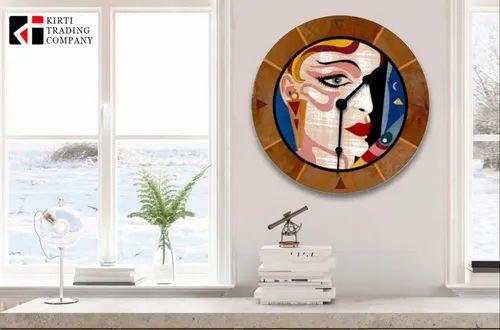 Veneer Inlay Clock
